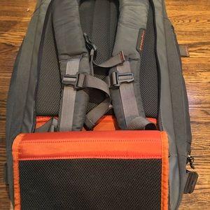 Briggs and Riley back pack weekender bag. Carryon.